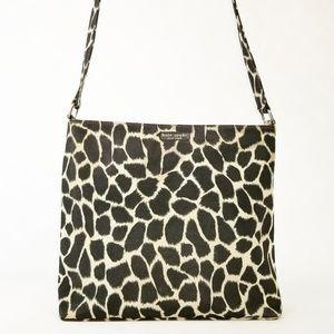 Vintage Kate Spade Giraffe Print Tote Shoulder Bag